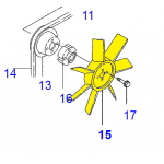 Вентилятор радіатора ( YM12390044731)