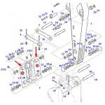 Втулка (бінокль-ричаг рукояті) Doosan 2110-1360A>21101360A