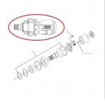 Вал гідромотора в зборі 199-1088>1991088